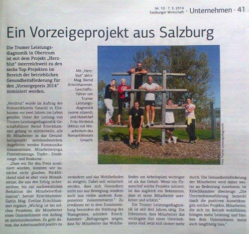 Vorzeigeprojekt aus Salzburg
